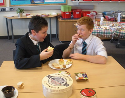 European Day of Languages pupils eating some treats