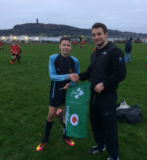 Sam (pictured) was awarded Man of the Match for his exceptional tackling.