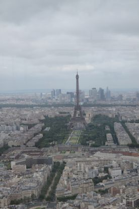 view from the top of Montparnasse Tower across Paris