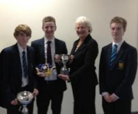 Pupils with Dame Mary-Peters Prize Distribution 2011