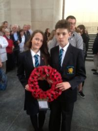 Aimee and Matthew laid a wreath at the Menin Gate during the Last Post service.