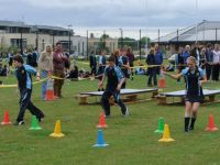 Pupils taking part in Sports' Day activities, June 2013