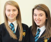 Samantha and Jessica who came 2nd and 3rd respectively in the Soroptimist International Bangor speech competition