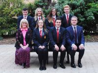 Senior Prefect team with Mr Pitts and Ms Gillespie