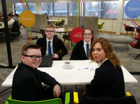 Year 11 pupils attended a workshop at the Google Innovation Lab