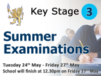 Key Stage 3 Summer Examinations timetable 2016