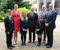 Education Minister launched the North Down and Ards Shared Education initiative at Bangor Academy and Sixth Form College with The Academy, St. Columbanus' and Bangor Grammar School.