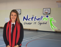 Nicole Celebrates NI Netball selection
