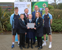 Bangor Academy celebrates first ever IFA Gold Quality Mark Award.