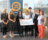 Ward House raises £1285 for The Orchardville Society.