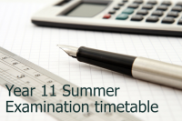 Year 11 summer examination timetable 2017