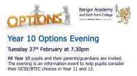 Year 10 Options Evening