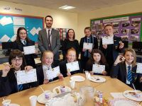 The Year 9 Pastoral Team rewarded top Year 9 pupils with a lunch-time party
