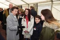 Olivia meets HRH Princess Royal at WW1 Remembrance Wood.