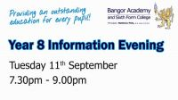 Year 8 Information Evening