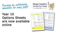 Year 10 Options Sheets