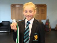 Year 8 Academy Acrobat, Aimee qualifies for the British Schools' Championships.