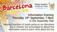 Barcelona October 2019 Information Evening trip