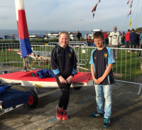 Katie and Oliver make their mark at the 2015 Topper Youth Championships.